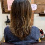 髪質改善トリートメントとカットで別人の後ろ姿にする。