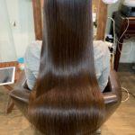 髪質改善トリートメントのピカピカな写真。