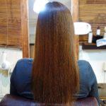 髪質改善ストレートの初施術から約1年