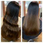 謎なアングルのビフォーアフター写真と3回目の髪質改善Tr