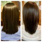 髪質改善ストレートから2ヶ月の髪の状態はこんな感じ。