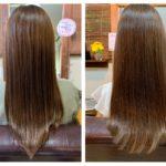 髪質改善トリートメントから3週間後のカラー