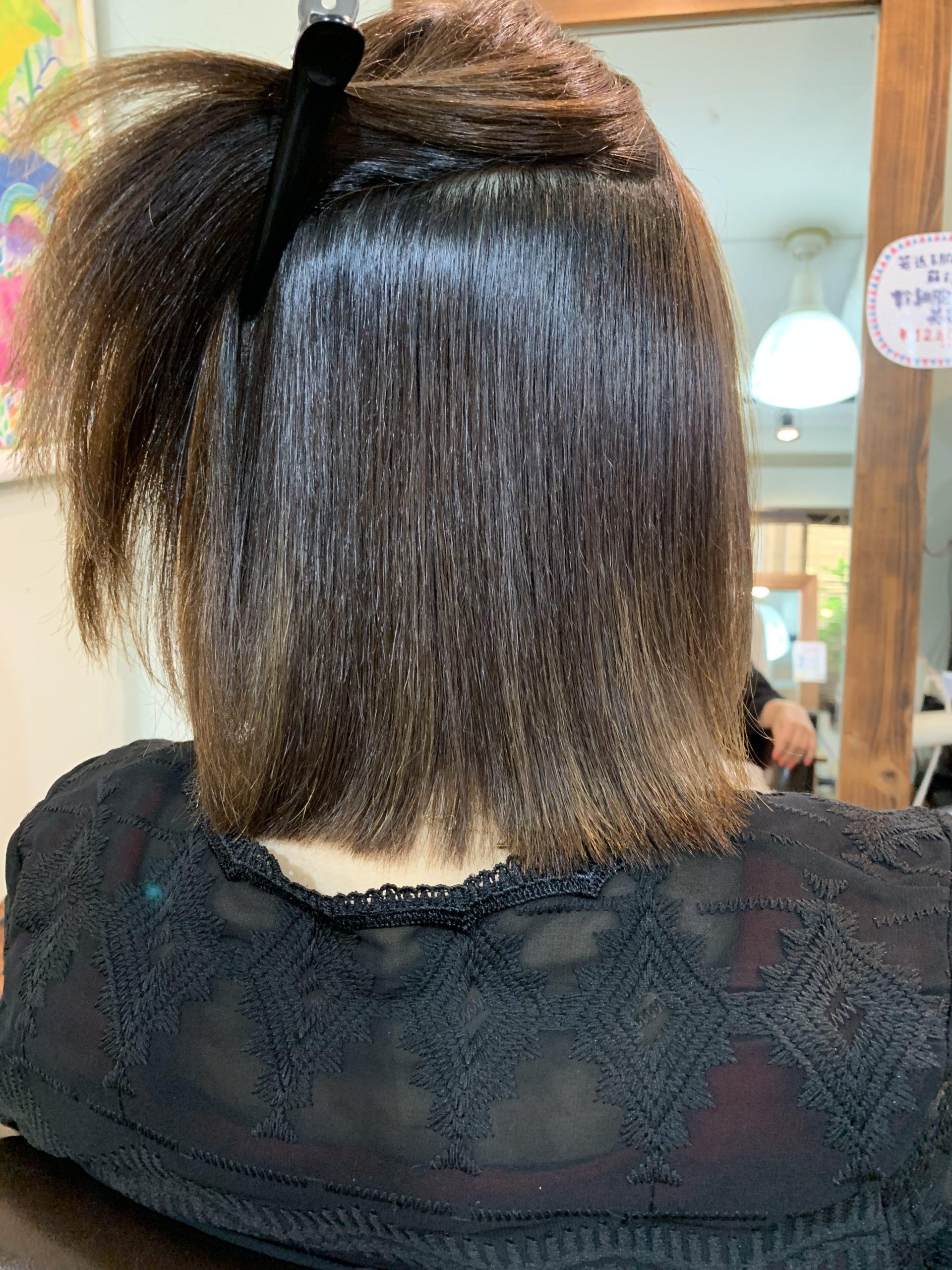 ハイライトがあっても縮毛矯正がしたい。 | 髪質改善 縮毛矯正が得意な ...