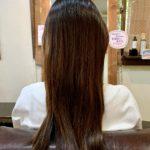 髪質改善トリートメントとカラーで質感とカラーチェンジ。