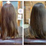 髪質改善トリートメントを1回目のお客様と3回目の方の比較?