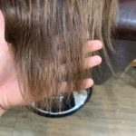 髪質改善トリートメント、カットカラーのお客様。