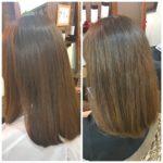 初めて髪質改善メニューをやってから約2年が経過した髪。