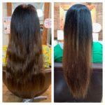 髪質改善トリートメントでロングヘアのケア。