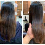 髪質改善ストレートカットでツヤ髪に。