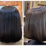 髪質改善ストレートからのハイライトで動きを。