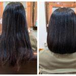 髪質改善ストレート&カットでボブにチェンジ。