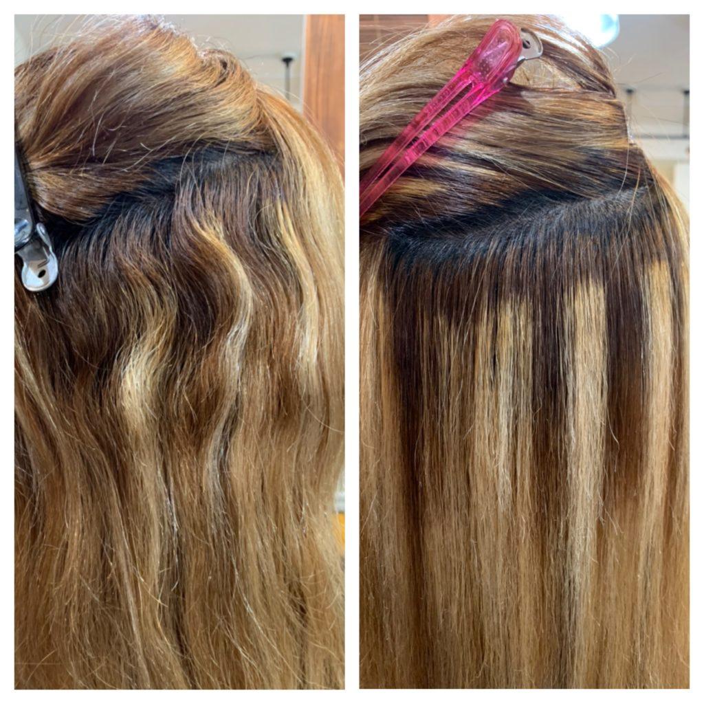 髪質改善ストレートビフォーアフター ブリーチ毛