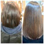 髪質改善トリートメントで縮毛矯正がいらなくなった事例。
