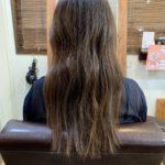 髪質改善トリートメントカラーのはじめてのお客様。
