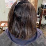 久々の髪質改善ストレート。