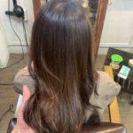 髪質改善トリートメントから半年後の髪と髪質改善ストレート。