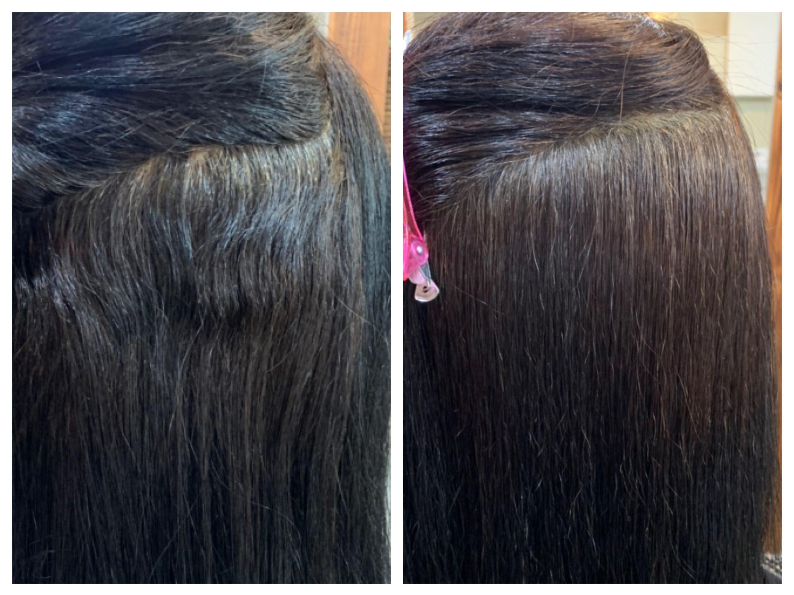 髪質改善ストレートビフォーアフター