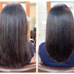 髪質改善ストレートカラー、カットのお客様。
