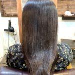 湿気対策に髪質改善ストレート。